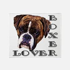 Boxer Lover Throw Blanket