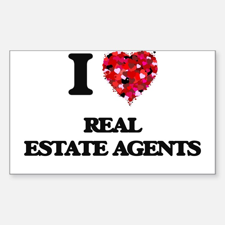 I love Real Estate Agents Decal