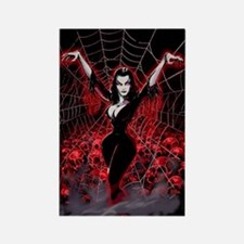 Vampira Spider Web Gothic Rectangle Magnet