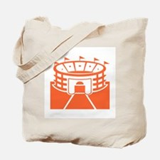 Orange Stadium Tote Bag