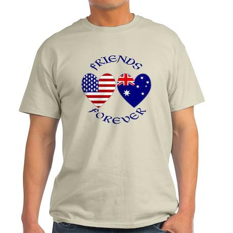 Australia USA Friends Light T-Shirt