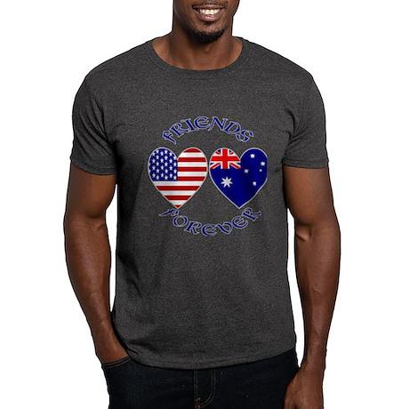 Australia USA Friends Dark T-Shirt
