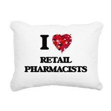 I love Retail Pharmacist Rectangular Canvas Pillow