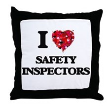 I love Safety Inspectors Throw Pillow