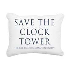 Save the Clock Tower Rep Rectangular Canvas Pillow
