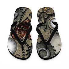 Steampunk Flip Flops