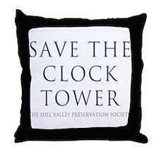 Save the Clock Tower Replica Throw Pillow