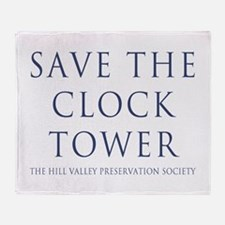 Save the Clock Tower Replica Throw Blanket