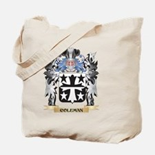 Coleman Coat of Arms - Family Crest Tote Bag