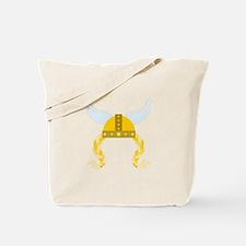 Viking Helmet Braids Tote Bag