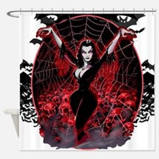 Vampira Spider Web Gothic Shower Curtain