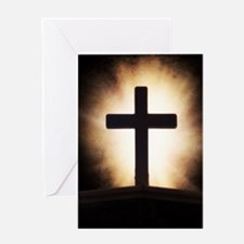 cross on fire Greeting Card