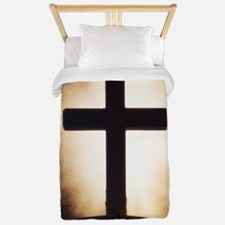 cross on fire Twin Duvet