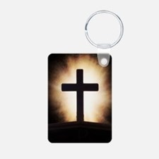 cross on fire Keychains