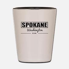 Spokane Washington Shot Glass