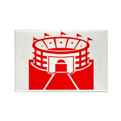 Red Stadium Rectangle Magnet