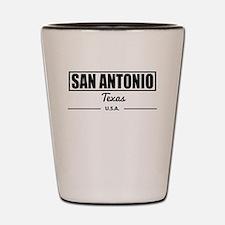 San Antonio Texas Shot Glass