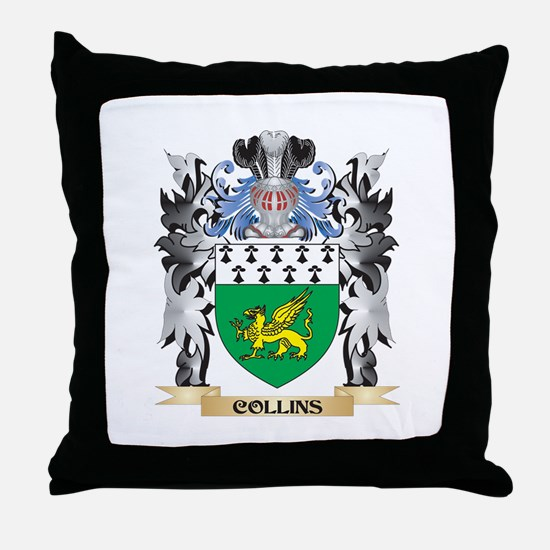 Collins Coat of Arms - Family Crest Throw Pillow