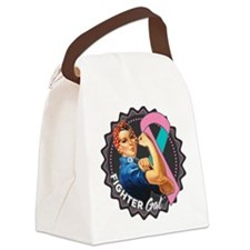 Hered. Breast Cancer Fighter Gal Canvas Lunch Bag