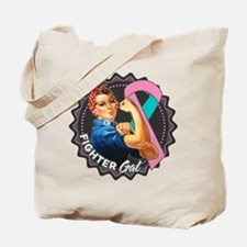 Hered. Breast Cancer Fighter Gal Tote Bag