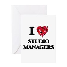 I love Studio Managers Greeting Cards