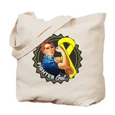 Ewings Sarcoma Fighter Gal Tote Bag