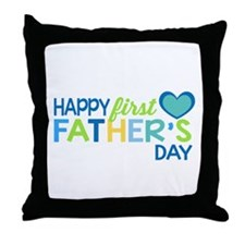 Haopy First Father's Day Boys Throw Pillow