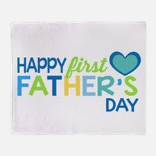 Haopy First Father's Day Boys Throw Blanket