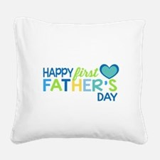Haopy First Father's Day Boys Square Canvas Pillow