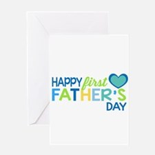 Haopy First Father's Day Boys Greeting Cards