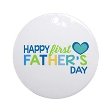 Haopy First Father's Day Boys Ornament (Round)
