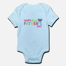 Happy First Father's Day Girls Body Suit