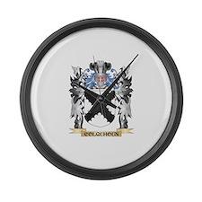 Colquhoun Coat of Arms - Family C Large Wall Clock