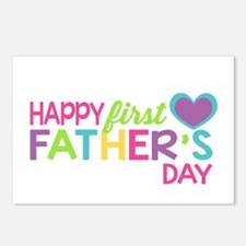 Happy First Father's Day Postcards (Package of 8)