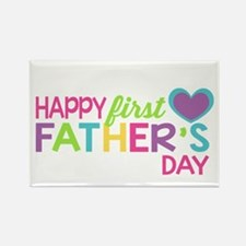 Happy First Father's Day Girls Magnets