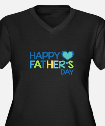 Happy Father's Day Boys Plus Size T-Shirt