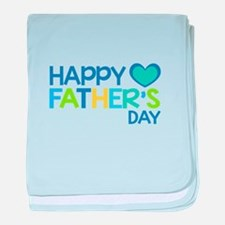 Happy Father's Day Boys baby blanket