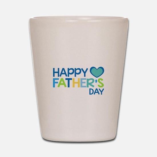 Happy Father's Day Boys Shot Glass