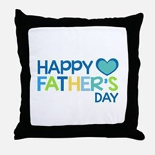 Happy Father's Day Boys Throw Pillow