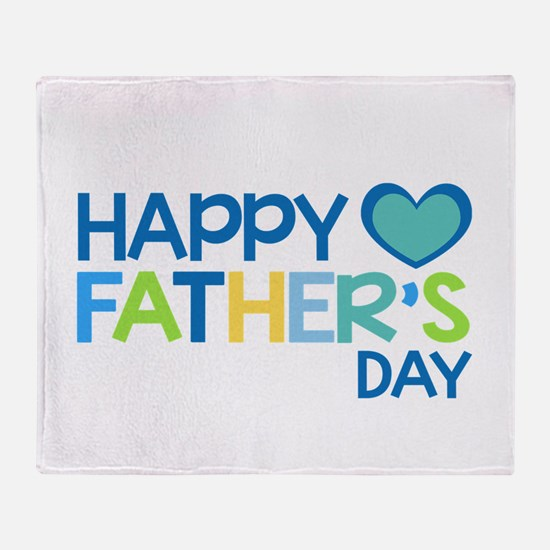 Happy Father's Day Boys Throw Blanket
