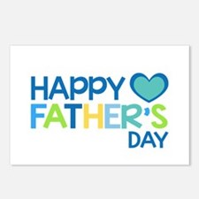 Happy Father's Day Boys Postcards (Package of 8)