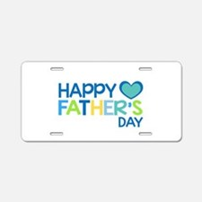 Happy Father's Day Boys Aluminum License Plate