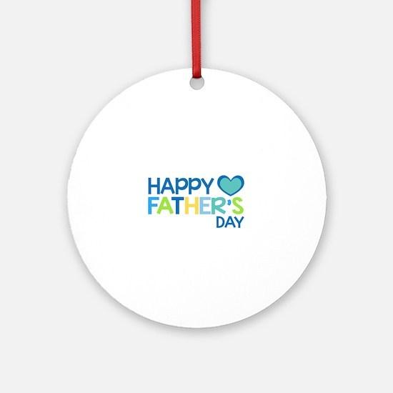 Happy Father's Day Boys Ornament (Round)