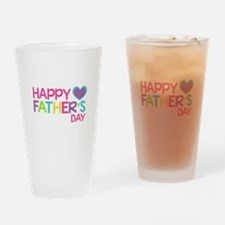 Happy Father's Day Girls Drinking Glass
