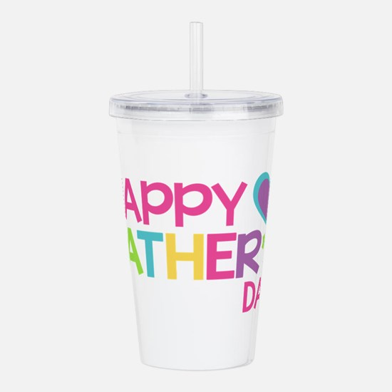 Happy Father's Day Gir Acrylic Double-wall Tumbler