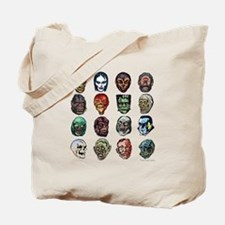 Horror Movie Monsters Masks Tote Bag