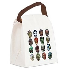 Horror Movie Monsters Masks Canvas Lunch Bag