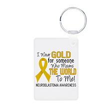 Neuroblastoma MeansWorldTo Aluminum Photo Keychain