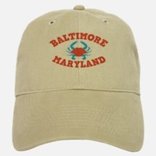 Crabbing Baltimore Baseball Baseball Cap