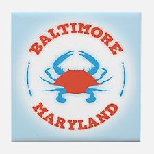Crabbing Baltimore Tile Coaster